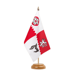 "Leicestershire Table Flag 6x9"", wooden"
