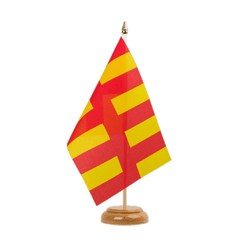 "Northumberland Table Flag 6x9"", wooden"