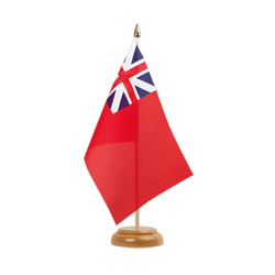 "United Kingdom Red Ensign 1707-1801 Table Flag 6x9"", wooden"