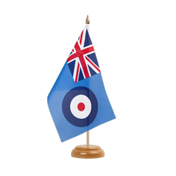 "Royal Airforce Table Flag 6x9"", wooden"