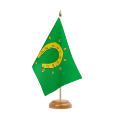 "Rutland Table Flag 6x9"", wooden"
