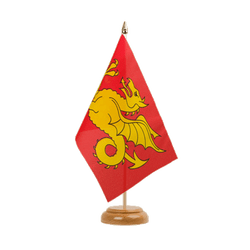 "Wessex 519-927 Table Flag 6x9"", wooden"