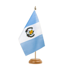 "Guatemala Table Flag 6x9"", wooden"