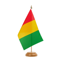 "Guinea Table Flag 6x9"", wooden"