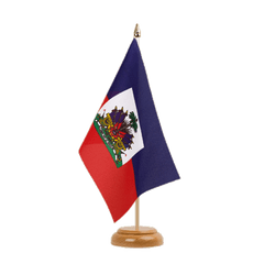 "Haiti Table Flag 6x9"", wooden"