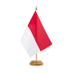 "Indonesia Table Flag 6x9"", wooden"