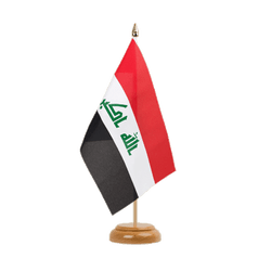 "Iraq 2009  Table Flag 6x9"", wooden"