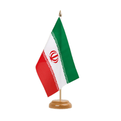 "Iran Table Flag 6x9"", wooden"