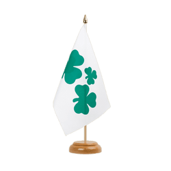 "Shamrock Table Flag 6x9"", wooden"