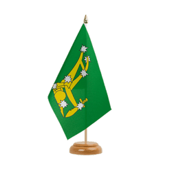 "Starry Plough green 1916-1934 Table Flag 6x9"", wooden"