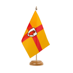 "Ulster Table Flag 6x9"", wooden"