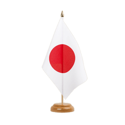 Drapeau de table Japon 15 x 22 cm, bois