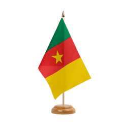 "Cameroon - Table Flag 6x9"", wooden"