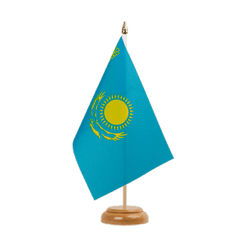 "Kazakhstan Table Flag 6x9"", wooden"