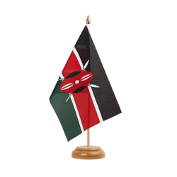 "Kenya Table Flag 6x9"", wooden"