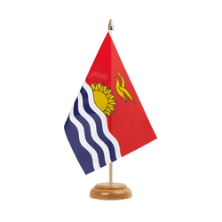 "Kiribati Table Flag 6x9"", wooden"