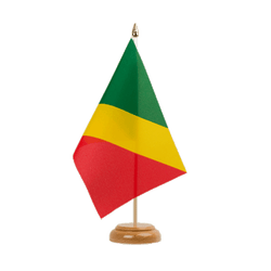 "Congo Table Flag 6x9"", wooden"