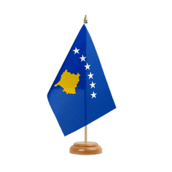 "Kosovo Table Flag 6x9"", wooden"