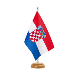 Drapeau de table Croatie 15 x 22 cm, bois