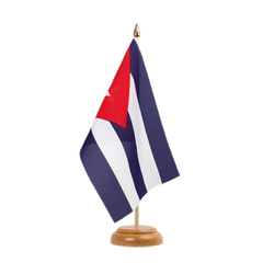 "Cuba  Table Flag 6x9"", wooden"