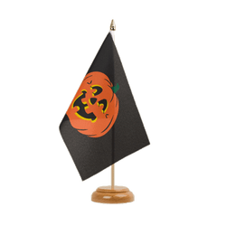 "Pumpkin Table Flag 6x9"", wooden"