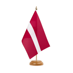 "Latvia  Table Flag 6x9"", wooden"