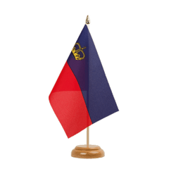 "Liechtenstein Table Flag 6x9"", wooden"