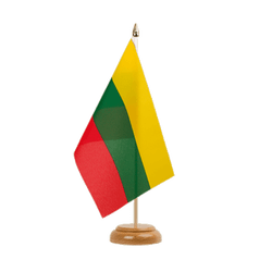 "Lithuania  Table Flag 6x9"", wooden"