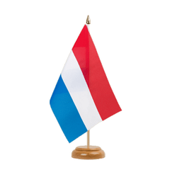"Luxembourg Table Flag 6x9"", wooden"