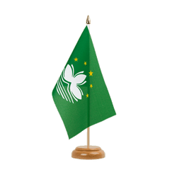 "Macao Macau - Table Flag 6x9"", wooden"