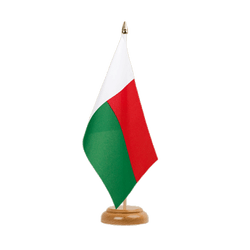 "Madagascar - Table Flag 6x9"", wooden"