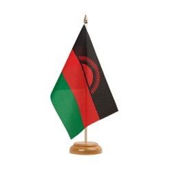 "Malawi Table Flag 6x9"", wooden"