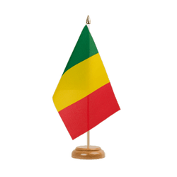 "Mali Table Flag 6x9"", wooden"