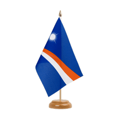 "Marshall Islands  Table Flag 6x9"", wooden"
