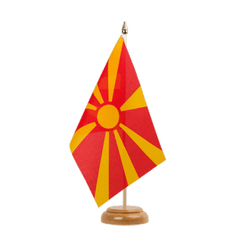 "Macedonia Table Flag 6x9"", wooden"