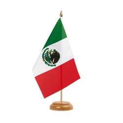 "Mexico Table Flag 6x9"", wooden"