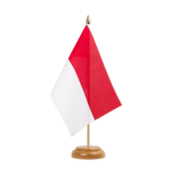 "Monaco Table Flag 6x9"", wooden"