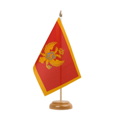 "Montenegro Table Flag 6x9"", wooden"