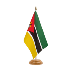"Mozambique  Table Flag 6x9"", wooden"