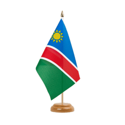 "Namibia Table Flag 6x9"", wooden"