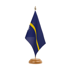 "Nauru - Table Flag 6x9"", wooden"