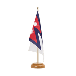 "Nepal Table Flag 6x9"", wooden"