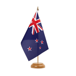 "New Zealand Table Flag 6x9"", wooden"