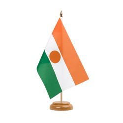 "Niger Table Flag 6x9"", wooden"