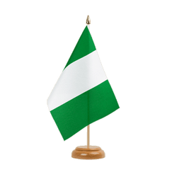 "Nigeria Table Flag 6x9"", wooden"