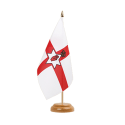"Northern Ireland Table Flag 6x9"", wooden"
