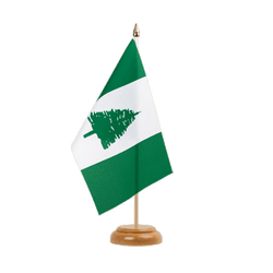 "Norfolk Islands Table Flag 6x9"", wooden"