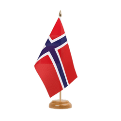 "Norway Table Flag 6x9"", wooden"