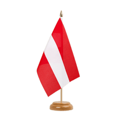 "Austria Table Flag 6x9"", wooden"