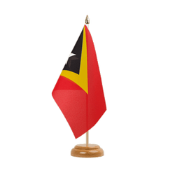 "East Timor - Table Flag 6x9"", wooden"